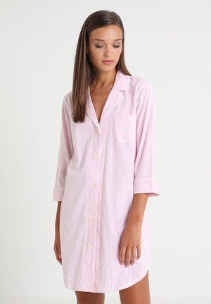 HERITAGE 3/4 SLEEVE CLASSIC NOTCH COLLAR SLEEPSHIRT - Negligé - pale pink/white