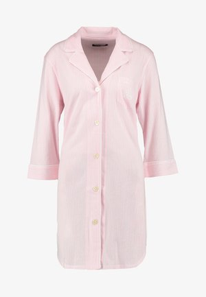 HERITAGE 3/4 SLEEVE CLASSIC NOTCH COLLAR SLEEPSHIRT - Negligé - pale pink/white