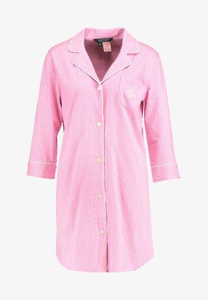 HERITAGE 3/4 SLEEVE CLASSIC NOTCH COLLAR SLEEPSHIRT - Chemise de nuit / Nuisette - pink/white