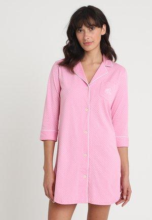 HERITAGE 3/4 SLEEVE CLASSIC NOTCH COLLAR SLEEPSHIRT - Noční košile - pink/white