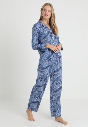 NOTCH COLLAR SET - Pyžamo - blue