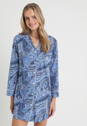 NOTCH COLLAR SLEEPSHIRT - Noční košile - blue