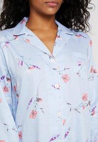 Lauren Ralph Lauren - 3/4 SLEEVE POINTED NOTCH SLEEPSHIRT - Noční košile - blue print - 5