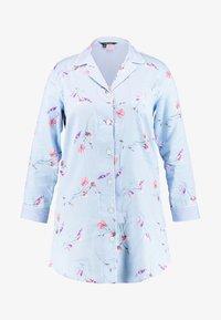 Lauren Ralph Lauren - 3/4 SLEEVE POINTED NOTCH SLEEPSHIRT - Noční košile - blue print - 4