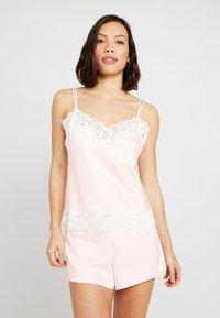 Lauren Ralph Lauren - CAMI TAP PANT SET - Pyžamová sada - pink - 0