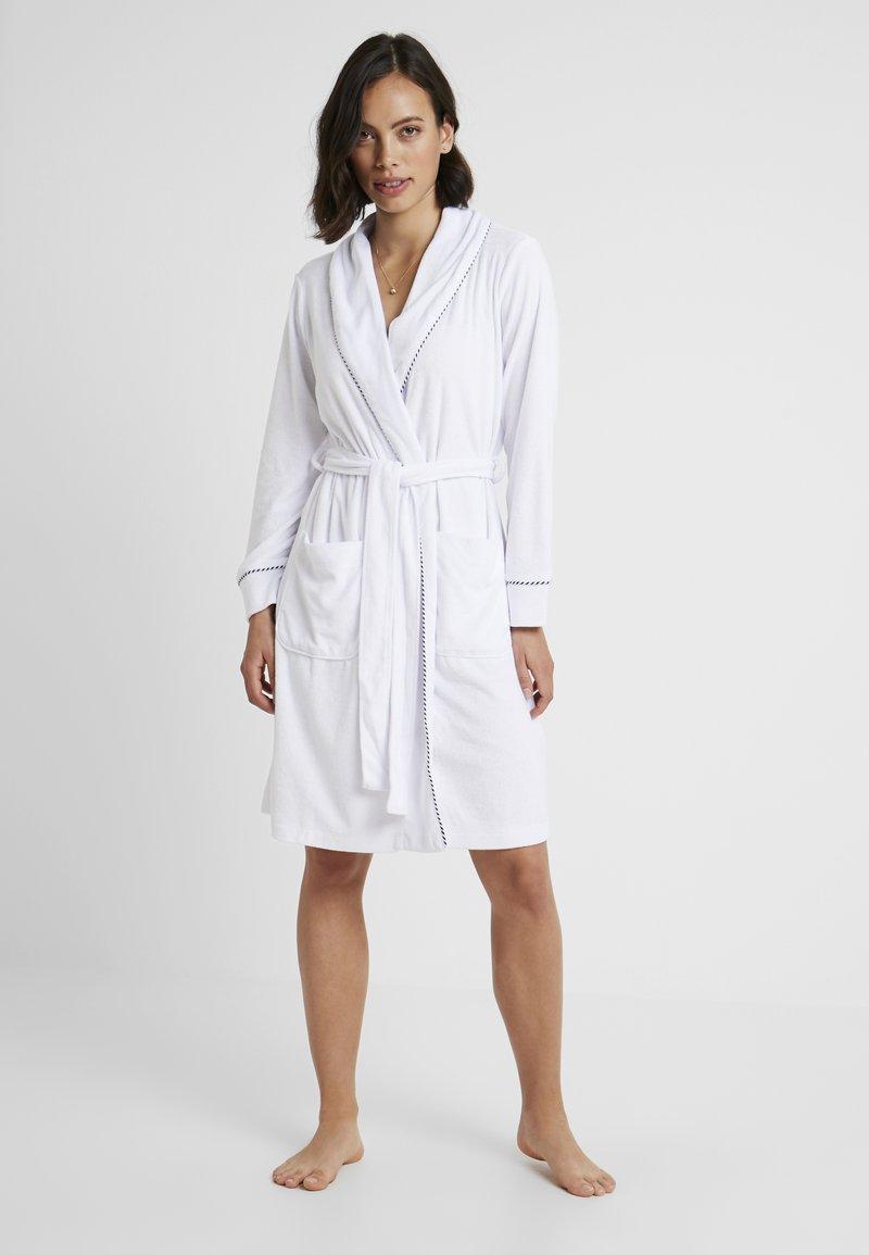 Lauren Ralph Lauren - SHORT SHAWL COLLAR ROBE - Peignoir - white