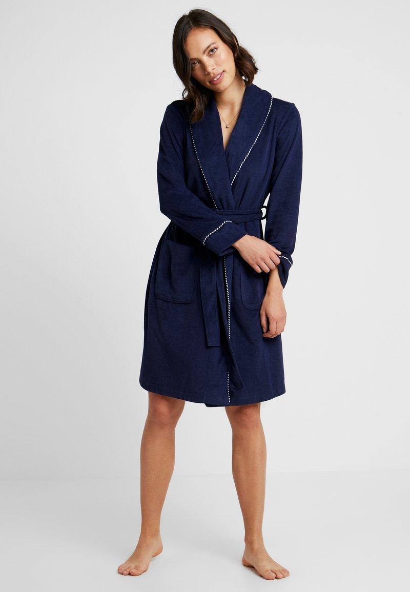 Lauren Ralph Lauren - SHORT SHAWL COLLAR ROBE - Dressing gown - navy