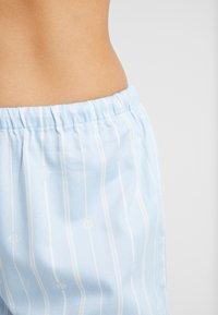 Lauren Ralph Lauren - CLASSIC POINTED NOTCH COLLAR LONG PANT SET - Pyžamová sada - blue - 3