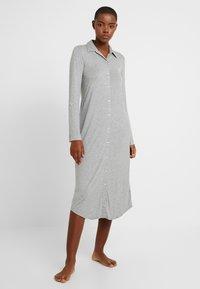 Lauren Ralph Lauren - ROLL CUFF BALLET SLEEP - Noční košile - grey heather - 0