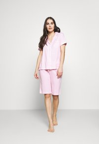 Lauren Ralph Lauren - DOLMAN NOTCH COLLAR BERMUDA SET - Pyžamová sada - pink - 1