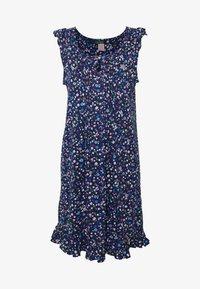 Lauren Ralph Lauren - FLUTTER FLOUNCE GOWN - Noční košile - navy print - 3