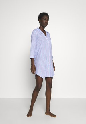 POINTED NOTCH COLLAR SLEEPSHIRT - Noční košile - blue