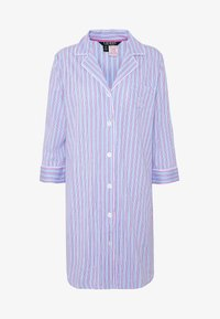 Lauren Ralph Lauren - POINTED NOTCH COLLAR SLEEPSHIRT - Noční košile - blue