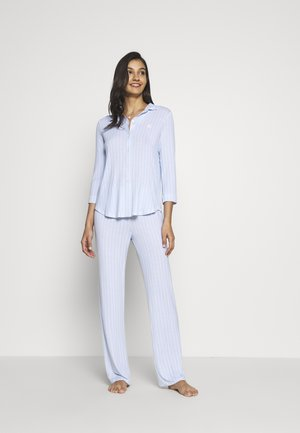 3/4 SLEEVE LONG PANT - Pyžamo - blue