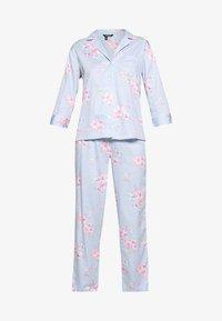Lauren Ralph Lauren - POINTED NOTCH COLLAR LONG PANT SET - Pyžamová sada - blue - 4