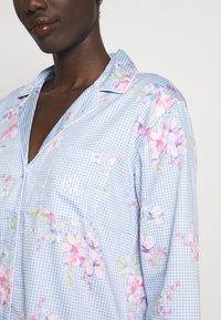 Lauren Ralph Lauren - POINTED NOTCH COLLAR LONG PANT SET - Pyžamová sada - blue - 5
