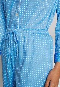 Lauren Ralph Lauren - POINTED NOTCH COLLAR LONG PANT SET - Pyžamová sada - blue - 6