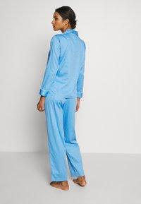 Lauren Ralph Lauren - POINTED NOTCH COLLAR LONG PANT SET - Pyžamová sada - blue - 2
