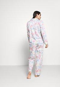 Lauren Ralph Lauren - POINTED NOTCH COLLAR LONG PANT SET - Pyžamová sada - multi-coloured - 2