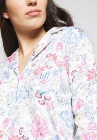 Lauren Ralph Lauren - POINTED NOTCH COLLAR LONG PANT SET - Pyžamová sada - multi-coloured - 4