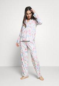 Lauren Ralph Lauren - POINTED NOTCH COLLAR LONG PANT SET - Pyžamová sada - multi-coloured - 1