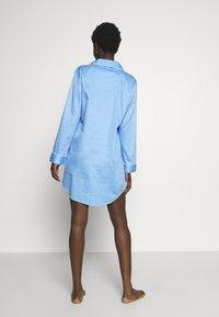 Lauren Ralph Lauren - POINTED NOTCH COLLAR - Noční košile - blue - 2
