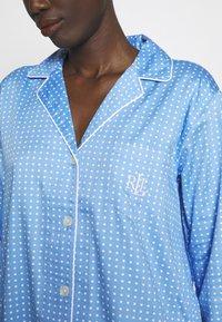 Lauren Ralph Lauren - POINTED NOTCH COLLAR - Noční košile - blue - 5