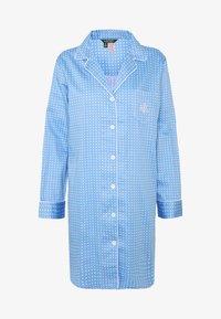 Lauren Ralph Lauren - POINTED NOTCH COLLAR - Noční košile - blue - 4