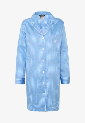 POINTED NOTCH COLLAR - Nachthemd - blue