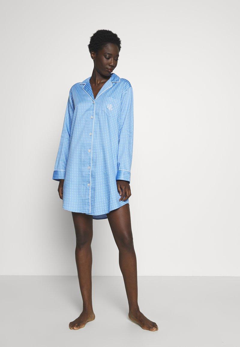 Lauren Ralph Lauren - POINTED NOTCH COLLAR - Noční košile - blue