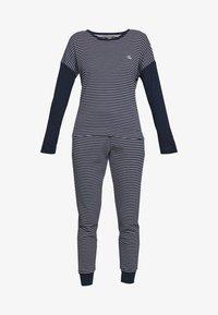Lauren Ralph Lauren - SCOOP JOGGER PANT SET - Pyjamas - navy - 4