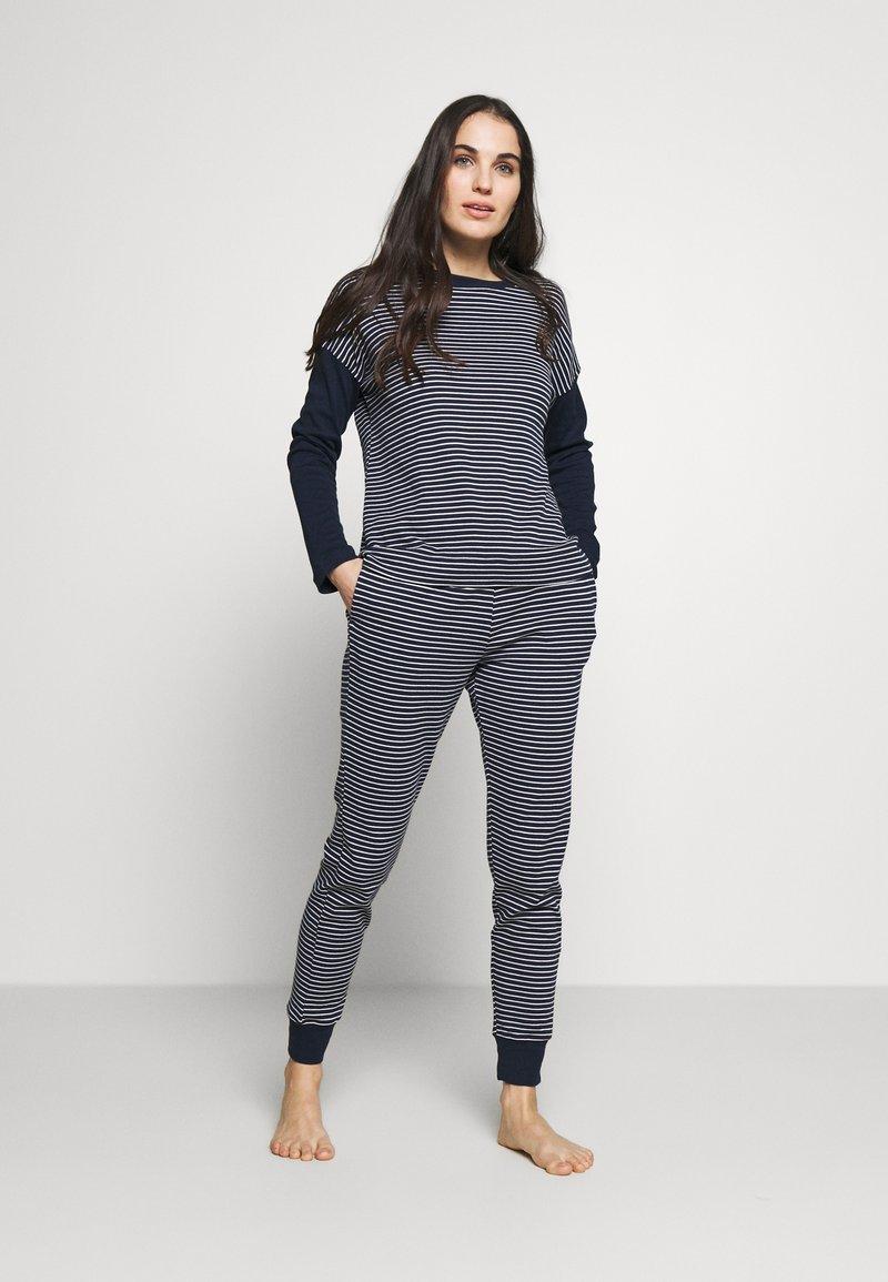 Lauren Ralph Lauren - SCOOP JOGGER PANT SET - Pyjamas - navy