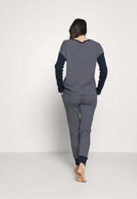 Lauren Ralph Lauren - SCOOP JOGGER PANT SET - Pyjamas - navy - 2