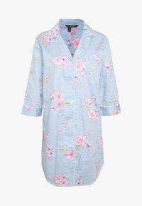 Lauren Ralph Lauren - POINTED NOTCH COLLAR SLEEPSHIRT - Noční košile - blue/light pink - 3