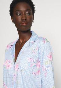 Lauren Ralph Lauren - POINTED NOTCH COLLAR SLEEPSHIRT - Noční košile - blue/light pink - 4