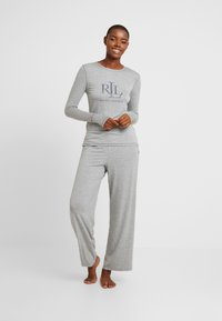 Lauren Ralph Lauren - LOGO CREW NECK - Pyjamashirt - grey heather - 1