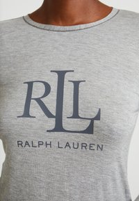 Lauren Ralph Lauren - LOGO CREW NECK - Pyjamashirt - grey heather - 5