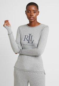 Lauren Ralph Lauren - LOGO CREW NECK - Pyjamashirt - grey heather - 0