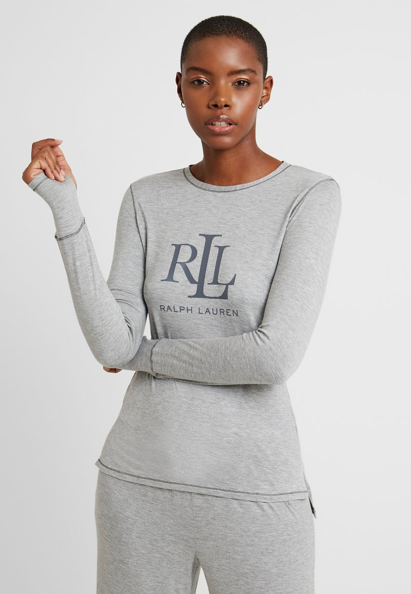Lauren Ralph Lauren - LOGO CREW NECK - Pyjamashirt - grey heather