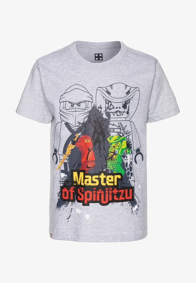 T-shirt med print - grey melange