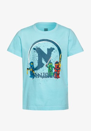 Print T-shirt - light blue