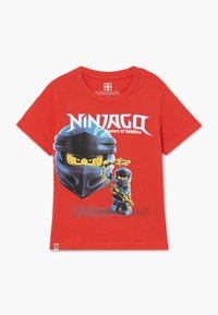 LEGO Wear - T-shirt med print - red - 0
