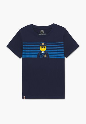 T-shirt med print - dark navy