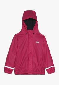LEGO Wear - JORDAN RAIN JACKET - Waterproof jacket - pink - 0