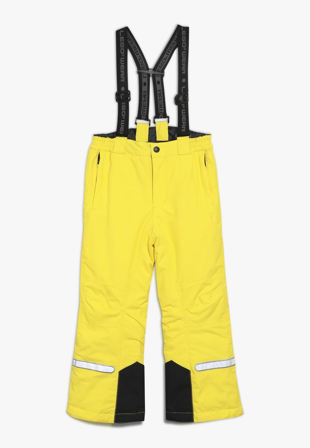 PLATON 709 SKI PANTS - Pantalon de ski - yellow