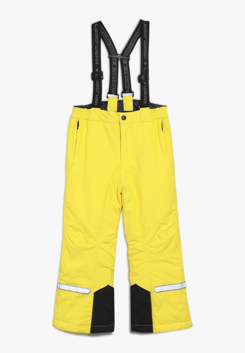 LEGO Wear - PLATON 709 SKI PANTS - Täckbyxor - yellow