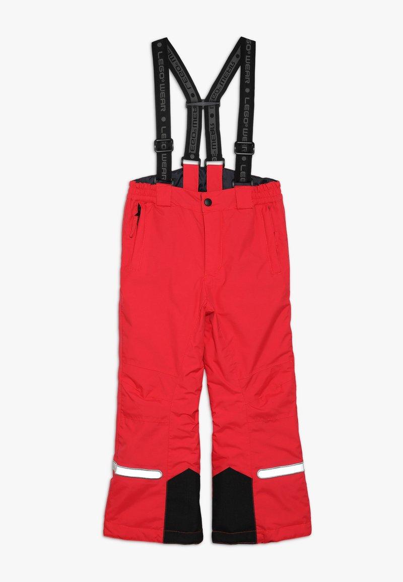 LEGO Wear - PLATON 709 SKI PANTS - Snow pants - red