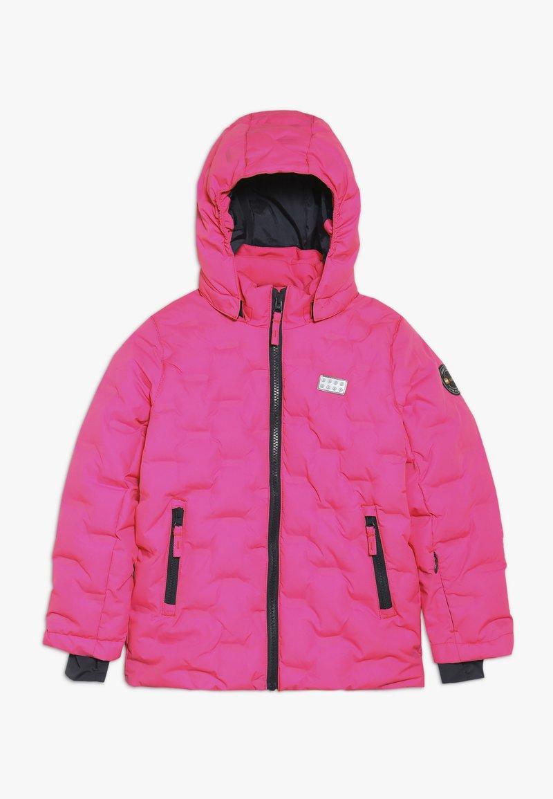 LEGO Wear - JORDAN JACKET - Ski jacket - dark pink