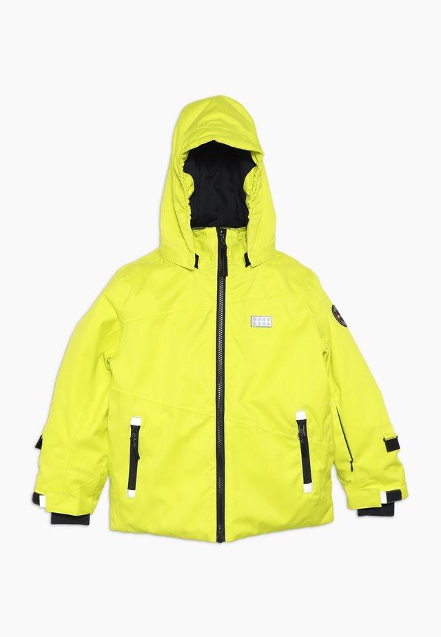 JORDAN 725 JACKET - Lyžařská bunda - yellow