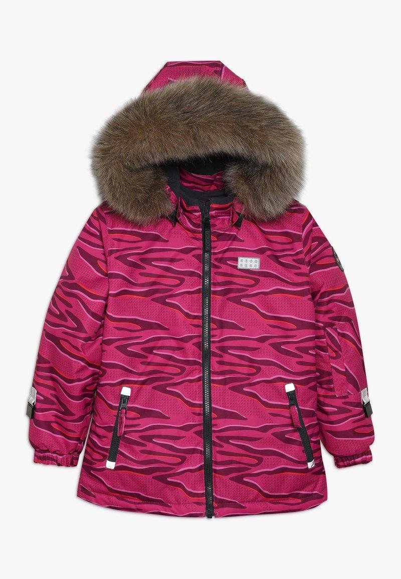 LEGO Wear - JOSEFINE JACKET - Skijakker - dark pink